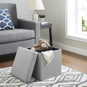 $9.99(原价$30)Mainstays 可折叠储物脚凳