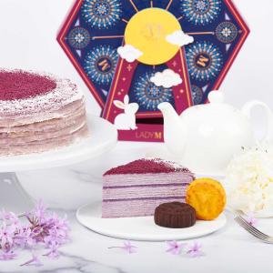 Lights Mooncake Gift SetNew Release: LadyM Purple Yam Mille Crêpes