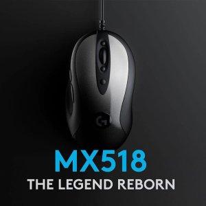 6.6折 €39.87(原价€59.99)Logitech G MX518 鼠标 经典复刻 复古外形搭配最新传感器