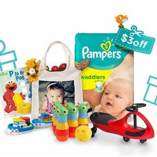 减$3 低至$17.89一大箱Pampers 全系列尿不湿特卖