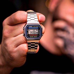 低至€12.68 复古又潮流Casio A168 复古小方块手表热卖 百搭各种穿衣风格