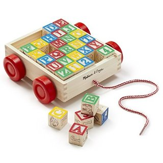 $9.99Melissa & Doug Classic ABC Wooden Block Cart Educational Toy With 30 Solid Wood Blocks