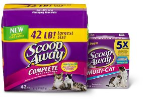 Scoop Away Complete Performance Scented Scoopable Cat Litter, 10.5-lb bag, pack of 4 - Chewy.com