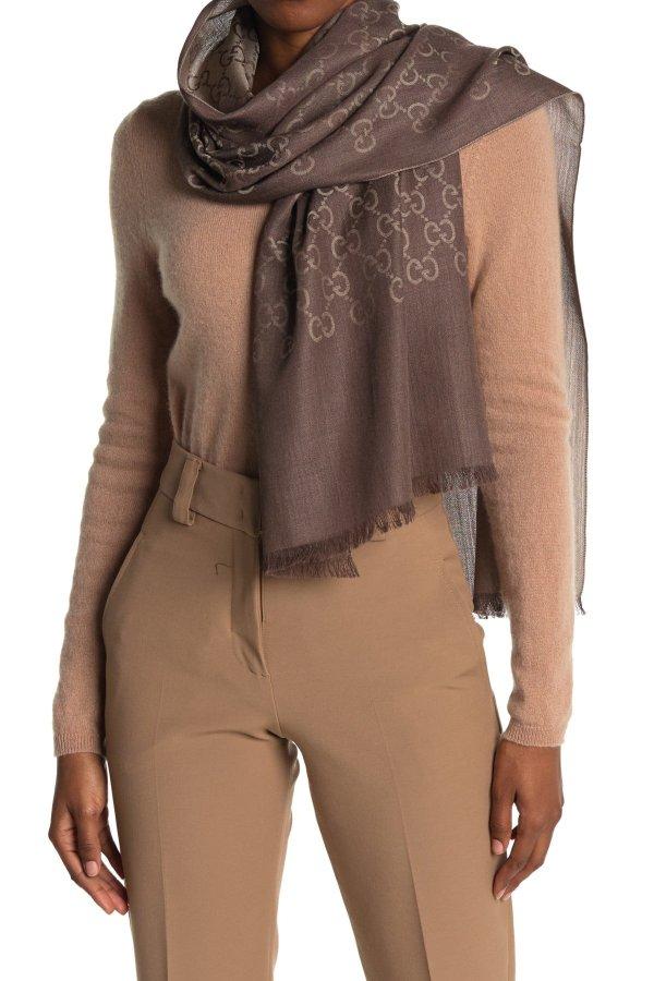 印花羊毛真丝围巾
