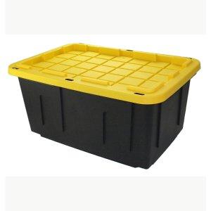 COMMANDER 27-Gallon (108-Quart) Black Tote with Standard Snap Lid
