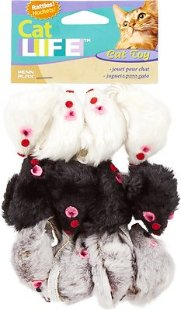 Penn-Plax Purr Pet Bag of Mice Cat Toy, Color Varies, 12 count - Chewy.com