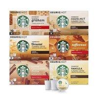 Starbucks 咖啡 k-cup 胶囊 6款经典秋季口味综合装 60颗装