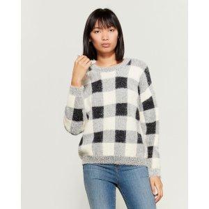 Cozy 格纹毛衣