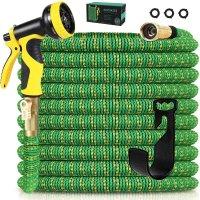 Knoikos 可伸缩花园水管  50ft 带10功能喷嘴 洗车、浇花必备