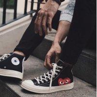 Converse x Comme联名款 黑色高帮