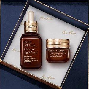 送4件套Estee lauder 明星小棕瓶套盒 含新款眼霜