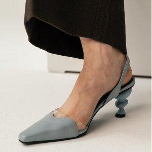 低至6折 收复古绑带中跟鞋Yuul Yie 美鞋热卖  小众设计感镜面系列超有范