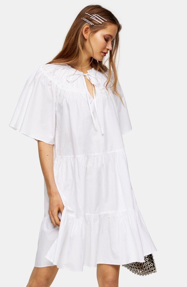 Smocked Poplin 连衣裙