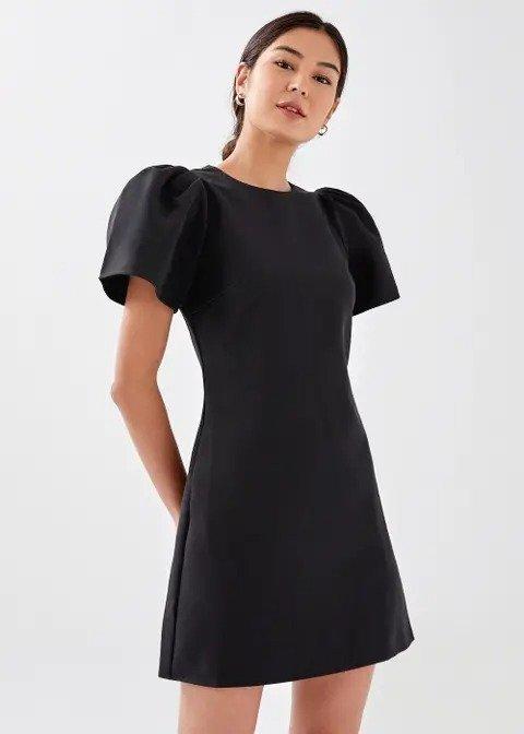 Tamsin Puff显瘦小黑裙