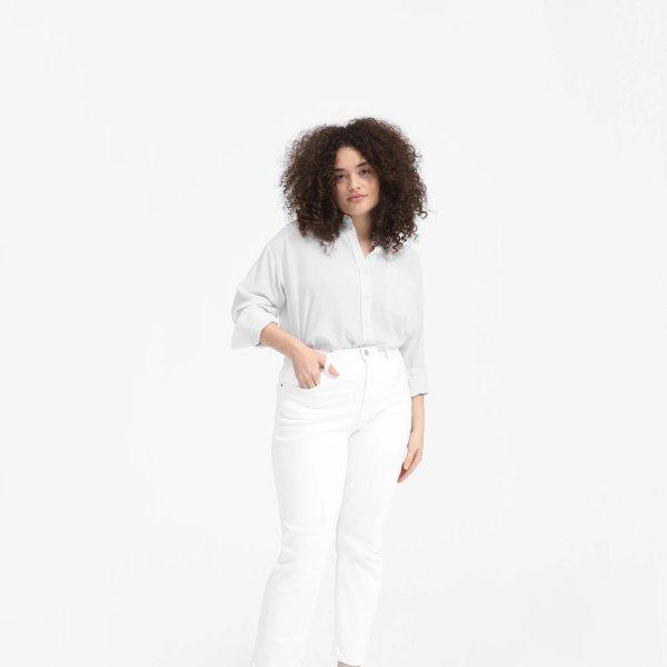 丝绸oversized衬衫