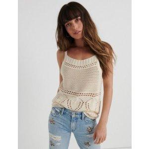 Lucky Brand JeansCrochet Sweater Tank | Lucky Brand