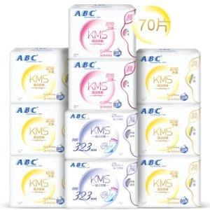 限时抢购¥53.9ABC KMS棉柔系列卫生巾70片装