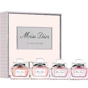 $79送MUF高清散粉小样上新:Dior Miss Dior迪奥小姐 迷你香水礼盒 一套收齐4款经典香