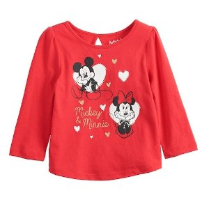 36c6d88e2 Disney's Mickey & Minnie Mouse Baby Girl Glittery Graphic Tee by Jumping  Beans®