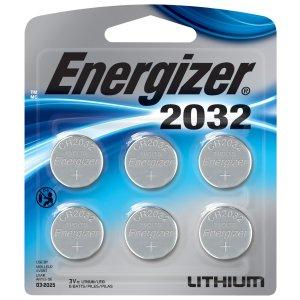 $3.97凑单好物,有备无患Energizer 2032号 3V 纽扣电池 6枚入