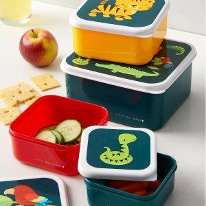 低至3折 $6.99收恐龙桌布上新:Simons 儿童餐具 $8收小探险家餐具3件 $9收封面餐盒4件