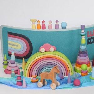 $18.97起 原木纯手工制作Grimm's 德国高端手工积木 神仙网红玩具 送礼首选