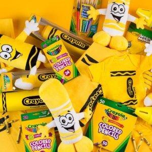 $1.99起收12色粉笔Crayola 儿童绘画工具 宅家小画家养成记 60支彩铅$16