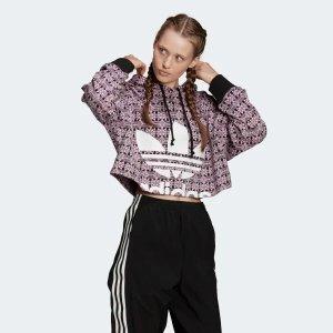 Adidas花纹帽衫