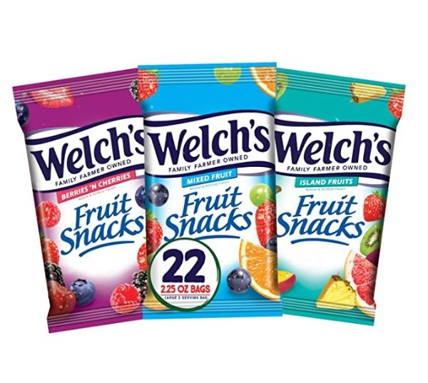 Welch's 综合口味水果软糖 2.25 oz 22包