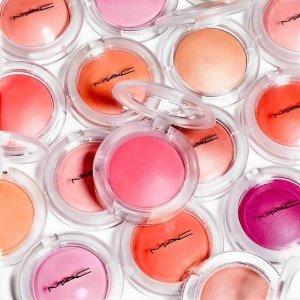 满额送眼线笔(最高价值$28)限今天:MAC 专业彩妆大师 收子弹头唇膏、透明壳腮红