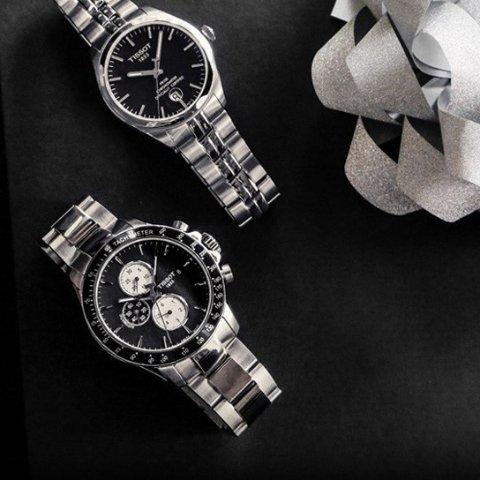 $389 + FSDealmoon Exclusive: Tissot V8 Black Automatic Chronograph Men's Watch