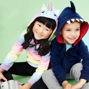 限今天:Carter's童装官网 1折起低至$1.99清仓,百余新款加入