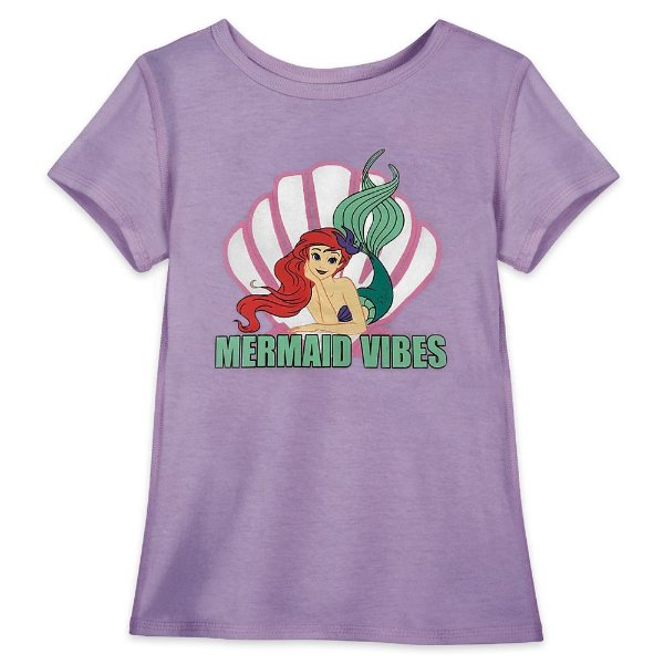 小美人鱼图案 女童T恤