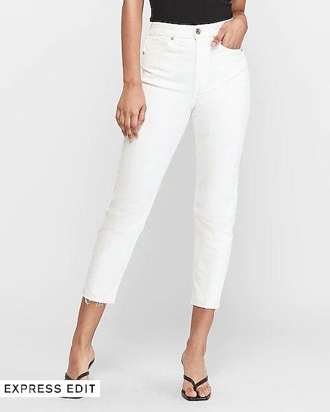 超高腰牛仔裤