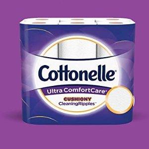 $9.99 收12大卷Cottonelle 超柔卫生纸、湿巾热卖   居家必备