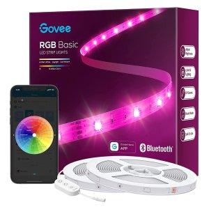 Govee 100ft LED Strip Lights, Bluetooth RGB LED Lights with App Control
