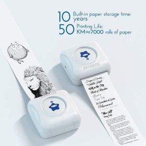$45(原价$55.99)dodocool 便携热敏打印机 照片便签随便印 蓝牙连接 ios安装兼容