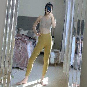 第二件6折姜黄色运动leggings