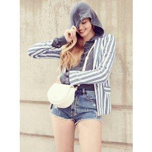 Lizel Striped Blazer at Guess