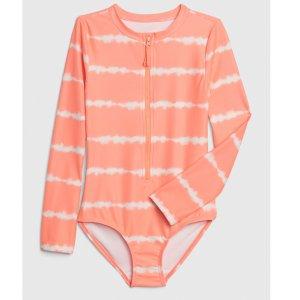 Gap女童  长袖一体式泳衣