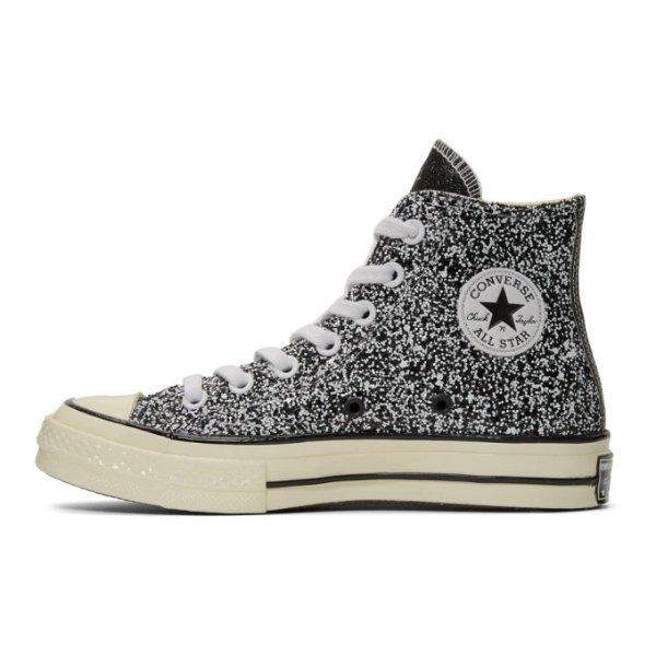 x Converse 亮片高帮鞋