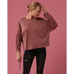 ExpressRuched Long Sleeve Top