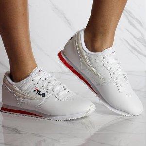 macys官网 Fila Machu 女款休闲小白鞋好价