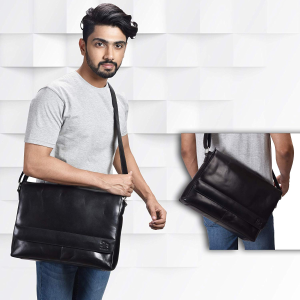 Today Only:$39.99 Leather Laptop Messenger Bag for Men @ Amazon.com