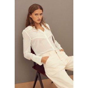 BA&SHLOL. Pleated blouse