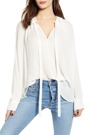 Endless Rose Pleated Chiffon Blouse   Nordstrom