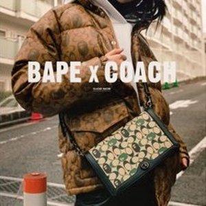 变相75折 €135收T恤Coach × BAPE 超强联名也折扣 包包、衣服全都有