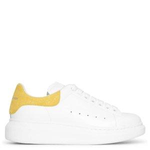 Alexander McQueen柠檬黄尾小白鞋