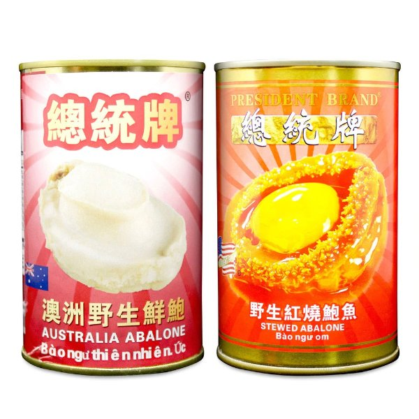 总统牌 野生鲜鲍1罐+红烧鲍鱼1罐