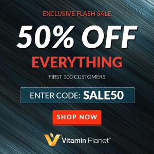 全场5折 仅限前100名手慢无:VitaminPlanet 官网限量大促 超多人气单品超低价热卖